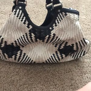 Cole Haan woven leather bag